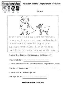 kindergarten halloween worksheets learning