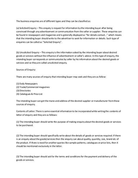 write  professional letter  inquiry