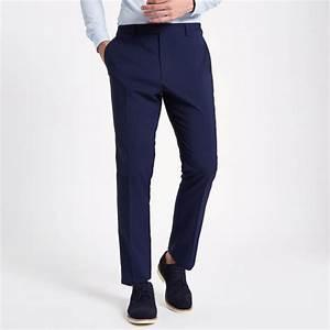 Costume Bleu Marine Homme : homme pantalon de costume bleu marine coupe slim marine ~ Melissatoandfro.com Idées de Décoration