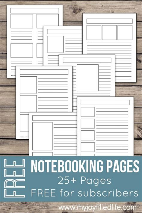 printable notebooking pages homeschool printables