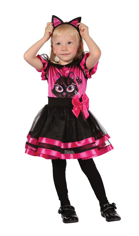 Pink Kitty Toddler Costume | Girlu0026#39;s World Book Day Fancy Dress Costumes | Mega Fancy Dress