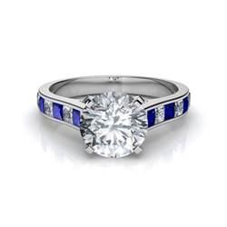 princess cut blue engagement rings princess cut blue sapphire engagement ring