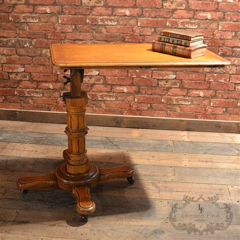 Antique Reading Table by John Carter London, Adjustable