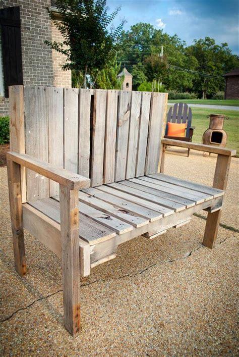 diy pallet wood bench  pallets
