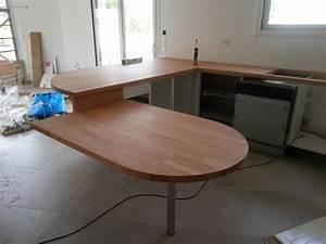 Fabriquer Une Table De Cuisine Avec Un Plan De Travail : faire une table avec mon plan de travail table de lit ~ Nature-et-papiers.com Idées de Décoration
