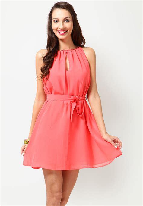 Sleeve Less Embellished Peach DressTops u0026 Tshirts