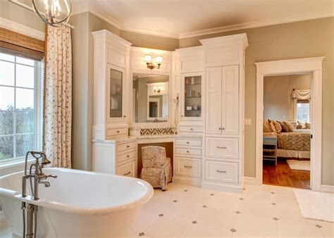 Built In Vanity Cabinets For Bathrooms by Corner Vanity Cabinet Bathroom Traditional With Bathroom