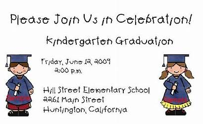 Graduation Kindergarten Invitation Invitations Templates Clip Cards