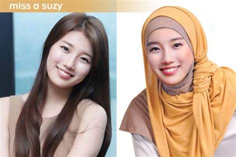 gini nih jadinya  artis artis korea pakai hijab inikpop