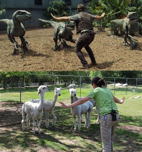 jurassic zoo zookeepers owen memes meme scene raptor scenie pracownicy recreate iconic imgur memy keepers poka wszystkie
