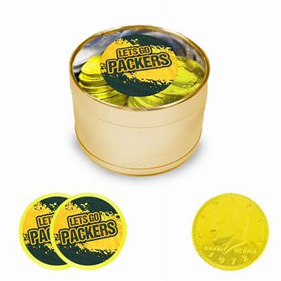 Packers Coins Tin Milk Stickers Chocolate Plastic
