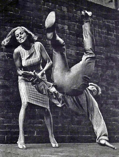 blackman honor avengers self bond karate judo galore pussy cathy gale actress goldfinger flashbak 1965 does physically stronger than say