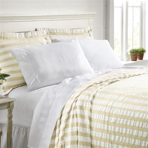 Seersucker Coverlet by Orvis Summer Stripe Seersucker Bedspread Only Ebay