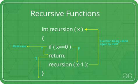 recursive functions geeksforgeeks