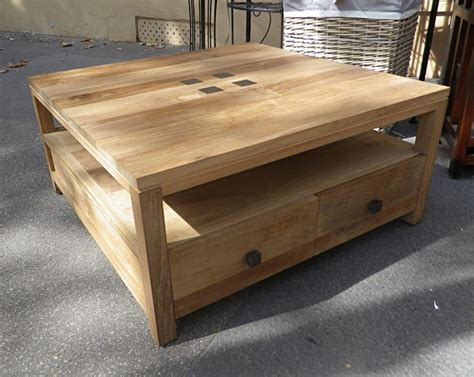 table basse bois carree table basse carree bois et fer forge 8 table basse teck keywest le meilleur du teck grade a