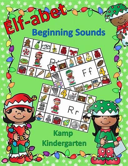 Elf Abet Sounds Christmas Consonant Beginning Activities