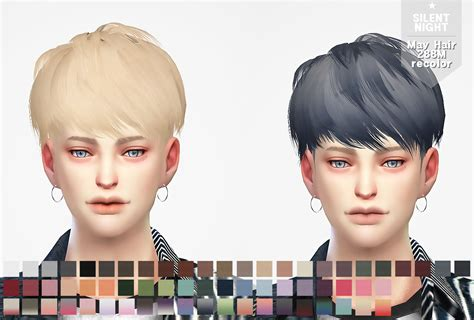 sims  hairs silent night  hair  recolor