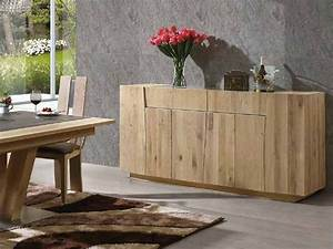 Buffet Bois Massif : bahut flower en ch ne massif 3 ou 4 portes avec tiroirs meubles bois massif ~ Teatrodelosmanantiales.com Idées de Décoration