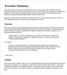 executive summary template madinbelgrade
