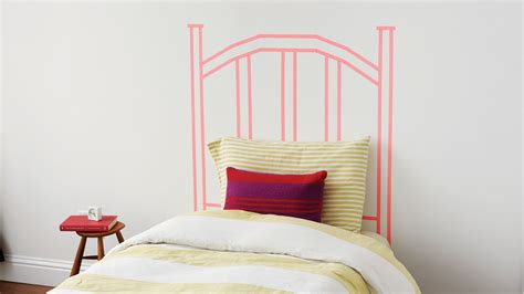 washi tape diy faux headboard martha stewart