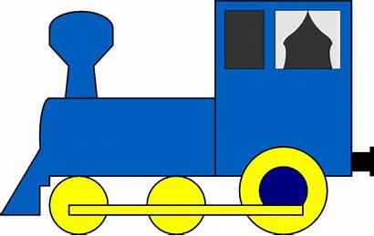 Train Engine Simple Clker Clip Clipart Vector