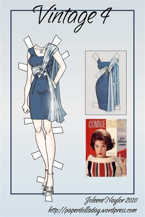 Dress Olla By Goshopper vintage 4 paper doll dress a day