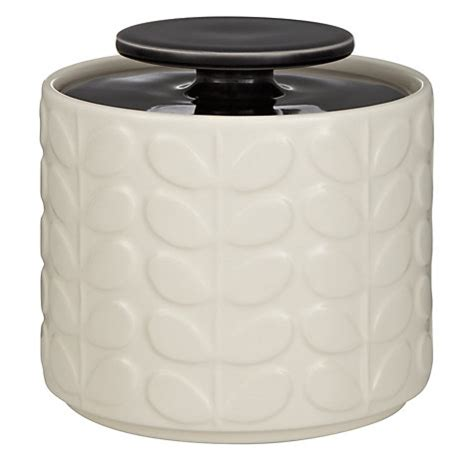 ceramic kitchen storage jars buy orla kiely raised stem ceramic kitchen storage jar 1l 5185