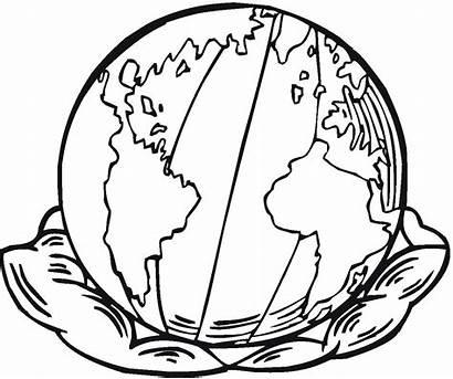 Earth Coloring Colorir Planetas Pintar Printable Globo