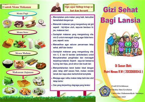 Makanan Untuk Ibu Hamil Midwife Putri Nimas Leaflet Gizi Sehat Bagi Lansia