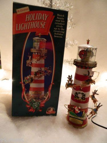 lighthouse tree toppers mr lighthouse animated lighted table top or tree topper 1996 trees tops
