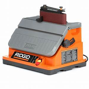 Ridgid oscillating edge belt spindle sander eb4424 the for Sander table home