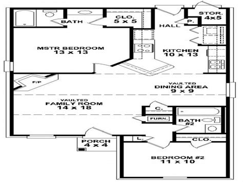simple  bedroom house floor plans small  bedroom house
