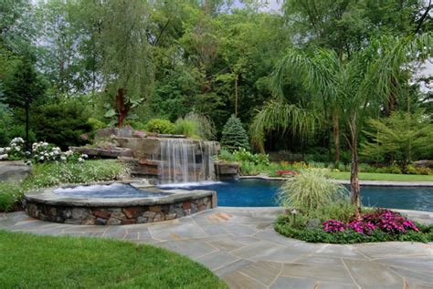 swimming pool landscape ideas swimming pool landscaping ideas inground pools nj design pictures