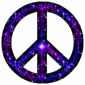 Blue Purple Glitter Peace Sign With Silver Border Glitter ...
