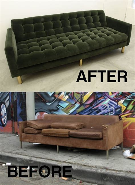 street sofa upcycle project  award winner yelp