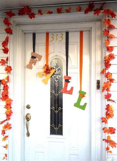 fall door decor fall door decor fall fun pinterest