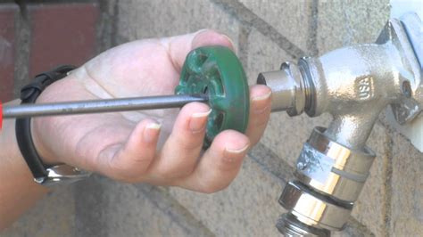 Replace Outside Faucet Handle by How To Fix A Leaky Outdoor Faucet