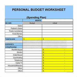 6 personal budget samples sample templates With easy personal budget template