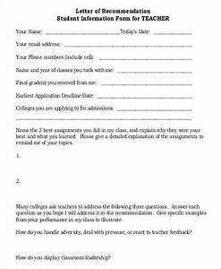 recommendation letter for student from teacher template - 30 basic letter of recommendation samples sample templates
