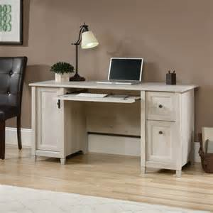 sauder 418793 edge water computer desk with enclosed