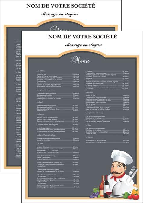 cuisiner les c es affiche modèle et exemple menu restaurant restaurant français