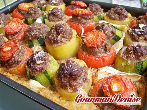 cuisiner un poulet au four légumes farcis aux boulettes de kefta d agneau