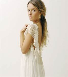 Robe de mariee dentelle dos nu vintage boheme les for Robe de mariée dentelle dos
