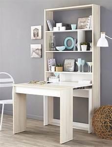 Sideboard Mit Tischfunktion : wandregal sibo 90x196x49 207 cm akazie wei mit tisch ~ Michelbontemps.com Haus und Dekorationen