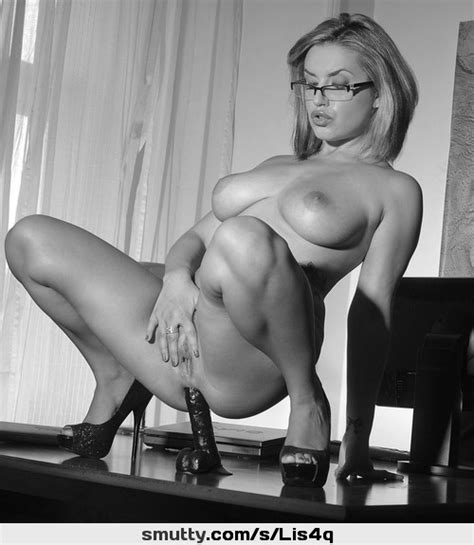 Anal Dildo Desk Secretary Highheels Glasses