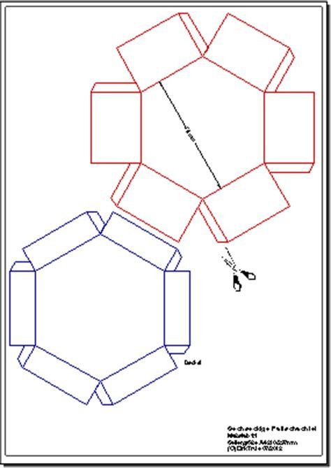 bastelaunleitung sechseckige faltschachtel aus karton