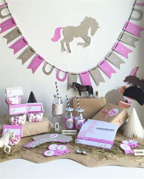 basteln 5 geburtstag mädchen kindergeburtstag pferde bastelset pdf kindergeburtstag kindergeburtstag pferde kinder