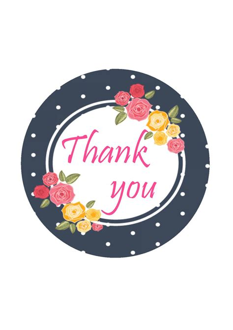 Thank You Card Thank You Stickers Thank You Labels Favor