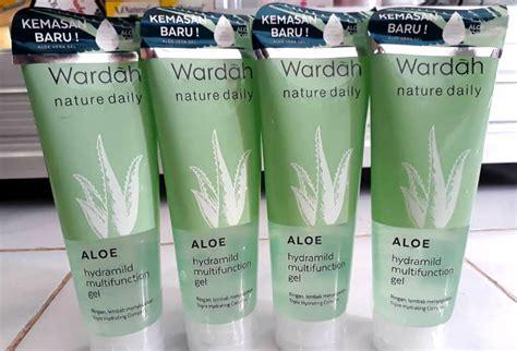 Harga Wardah Aloe Hydramild Multifunction Gel 8 rekomendasi produk skin care aloe vera yang murah selain