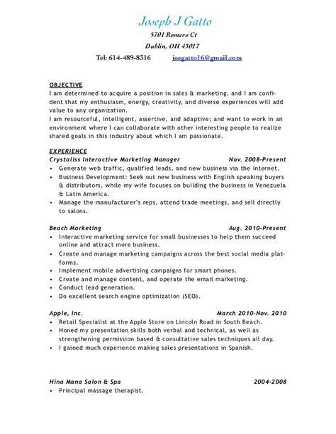 Sle Resume For Salon Owner by Spa Manager Resume 20 Images Bauleiter Cv Beispiel Visualcv Lebenslauf Muster Datenbank